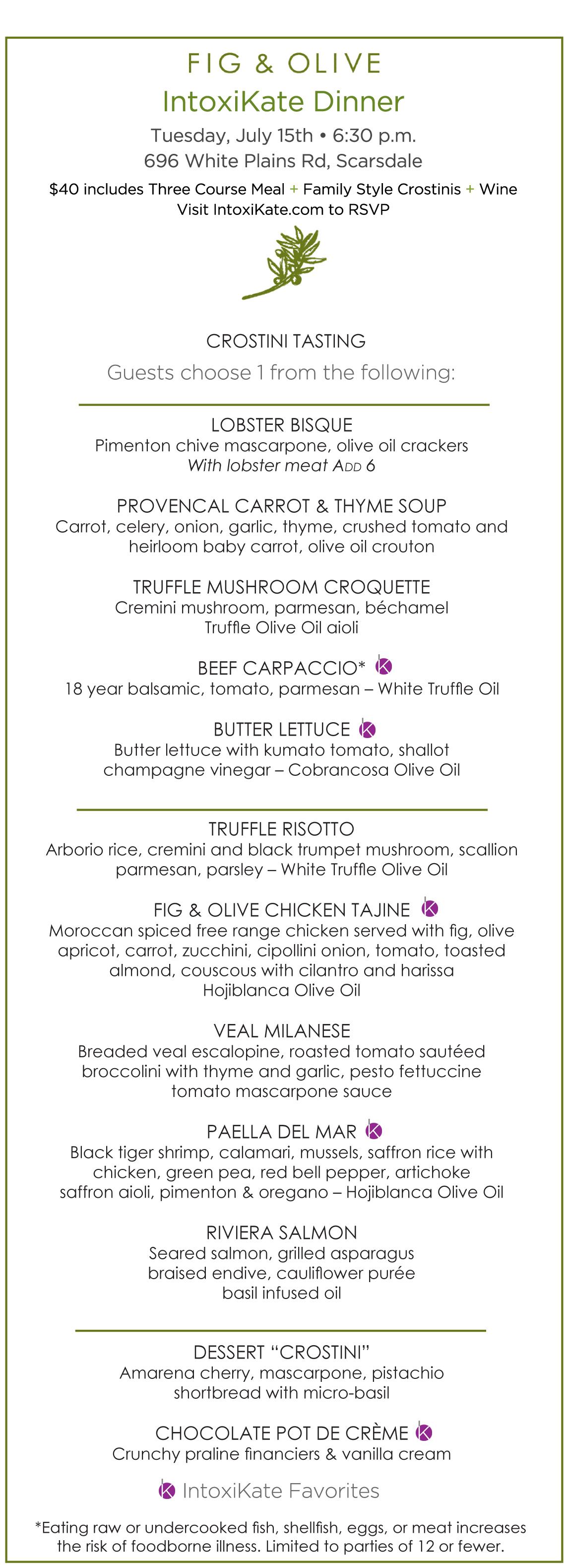 Fig And Olive Scarsdale Restaurant Week